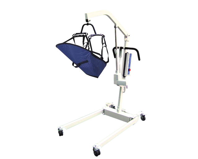 Bariatric Electric Patient Lift with Rechargeable Battery and Four Point Cradle Removable Battery
